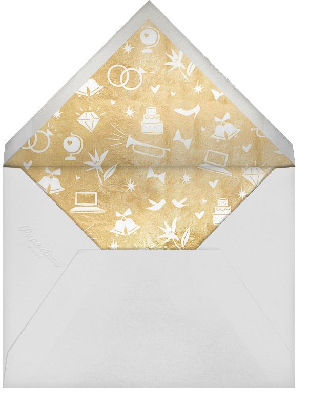 Symbols of Love - Gold - Cheree Berry - Modern  - envelope back