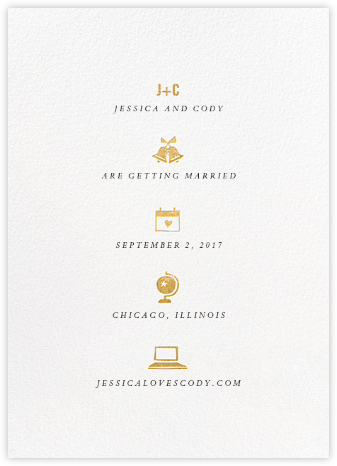 Symbols of Love - Gold - Cheree Berry - Modern save the dates