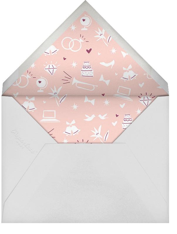 Symbols of Love - Merlot - Cheree Berry - Save the date - envelope back