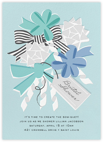 Bow-quet - Blue - Cheree Berry - Cheree Berry invitations and cards