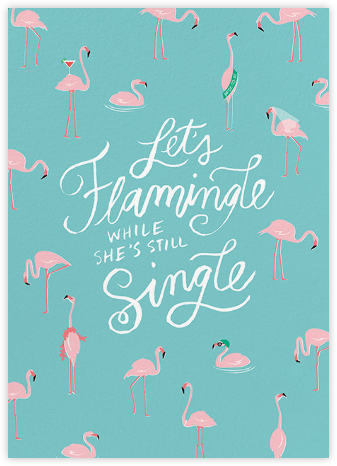 Ready to Flamingle - Cheree Berry - Bachelorette party invitations