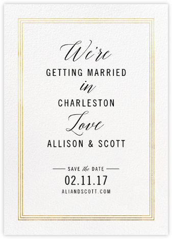 We're in Love - Gold - Cheree Berry - Save the dates