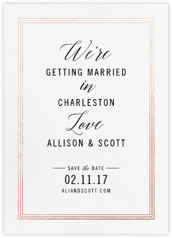 We're in Love - Rose Gold - Cheree Berry Paper & Design - Save the dates