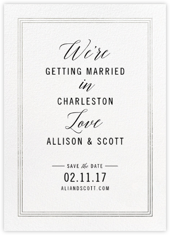 We're in Love - Silver - Cheree Berry - Save the dates