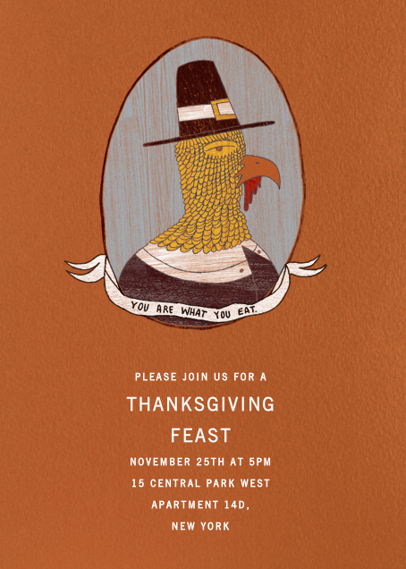 You Are What You Eat - Paperless Post - Thanksgiving invitations