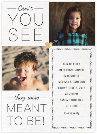 Meant to Be - Gold - Cheree Berry - Wedding Weekend Invitations