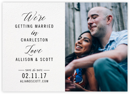 We're in Love (Photo) - Cheree Berry - Save the date cards and templates