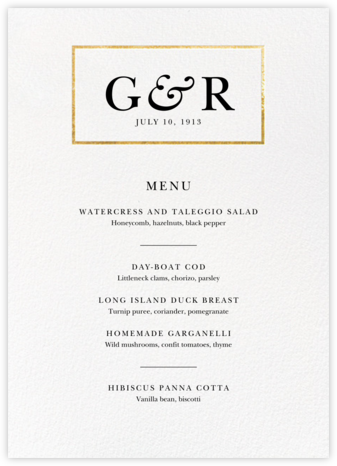 Placard (Menu) - Gold - Paperless Post - Wedding menus and programs - available in paper