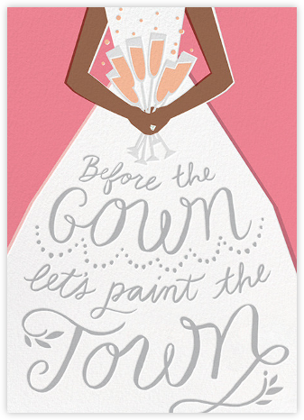 Before the Gown - Pink - Cheree Berry - Bachelorette party invitations