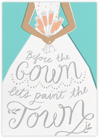 Before the Gown - Tiffany - Cheree Berry - Bachelorette party invitations