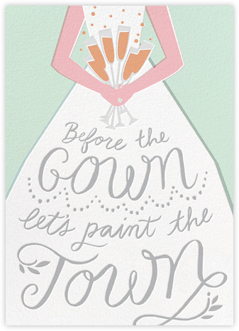 Before the Gown - Mint - Cheree Berry - Bachelorette party invitations