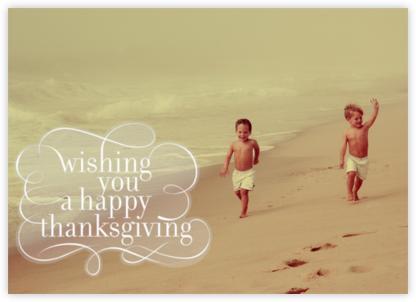 Wishing You - Horizontal - Paperless Post - Thanksgiving Cards