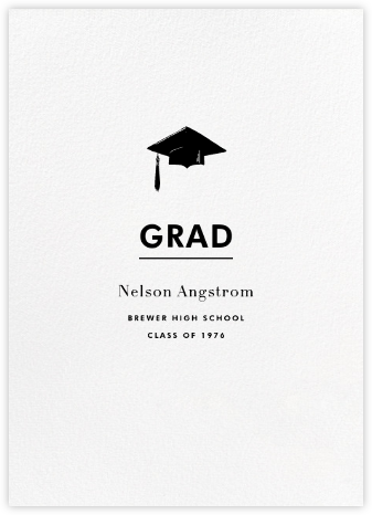 White (Tall) - Paperless Post - Graduation announcements
