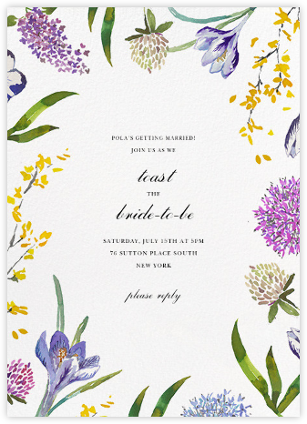 Spring Florets (Tall) - Happy Menocal - Bridal shower invitations