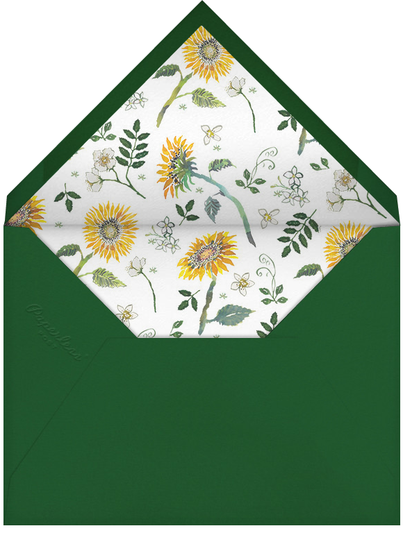 Dandelion Harvest (Tall) - Happy Menocal - Bridal shower - envelope back