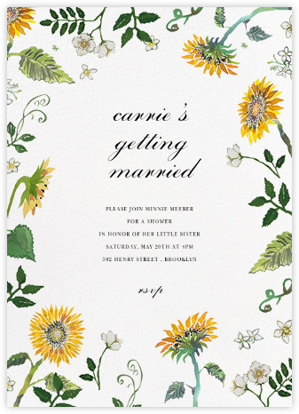 Dandelion Harvest (Tall) - Happy Menocal - Bridal shower invitations