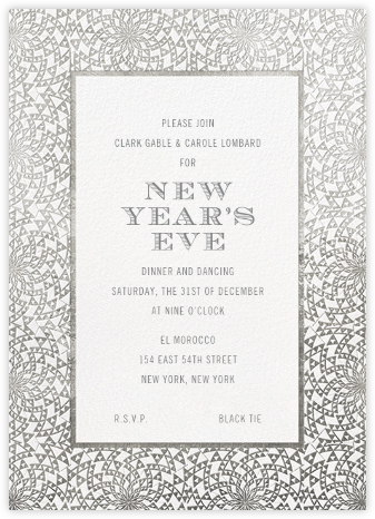 Deco Border - White - Paperless Post - New Year's Eve Invitations