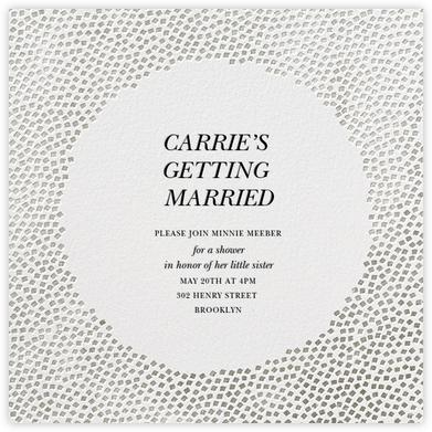Konfetti - Silver - Kelly Wearstler - Bridal shower invitations