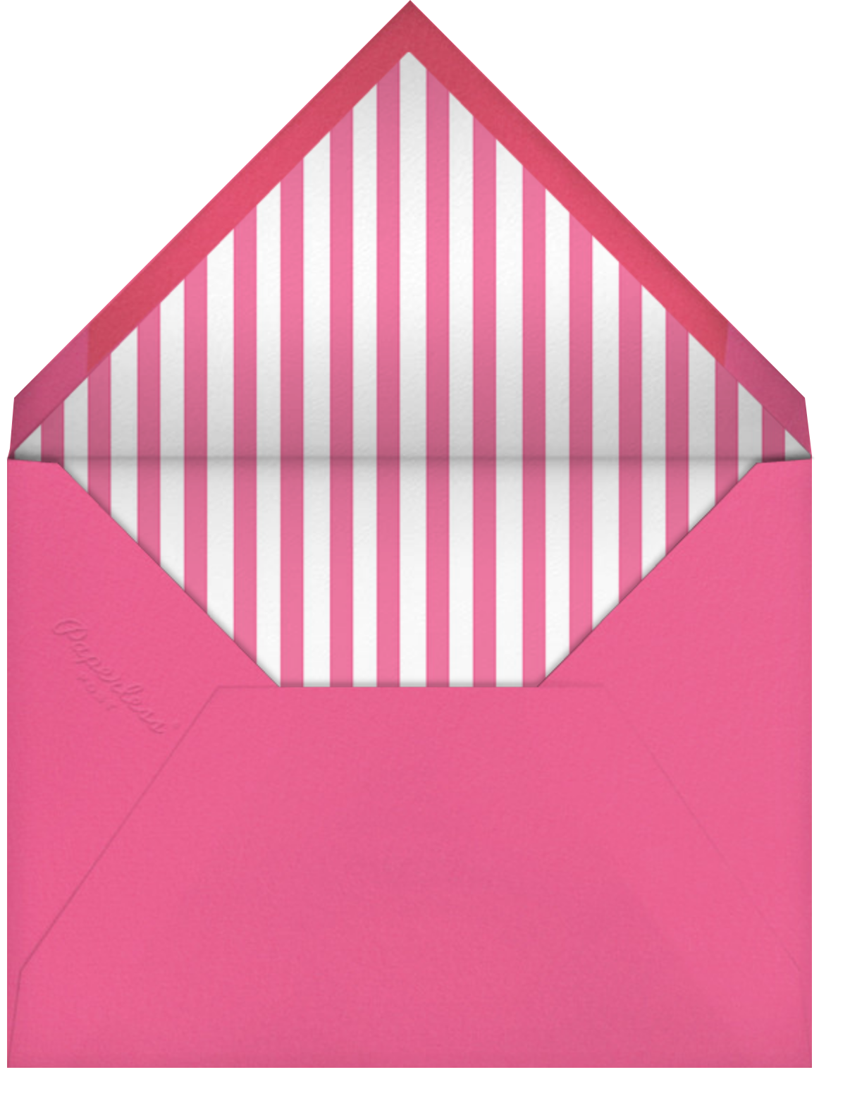 Carnaby - Pink - Paperless Post - Bridal shower - envelope back