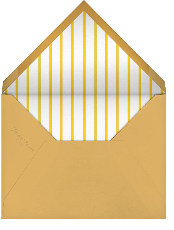 Carnaby - Yellow - Paperless Post - Baby shower - envelope back