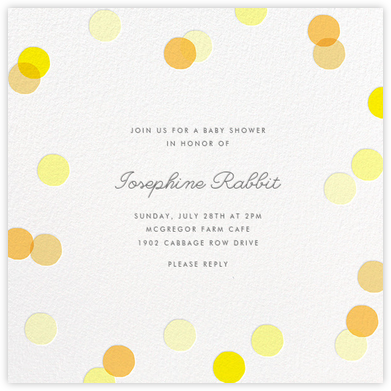 Carnaby - Yellow - Paperless Post - Baby Shower Invitations