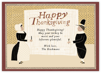 Hungry Pilgrims Greeting - Paperless Post -