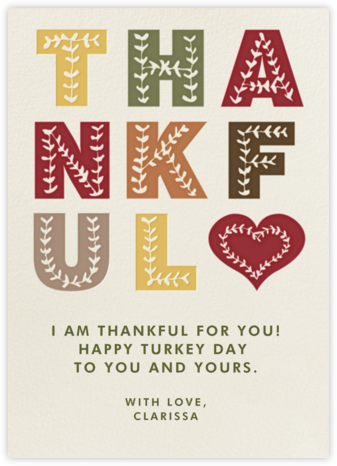 Thankful - Paperless Post - Thanksgiving Cards