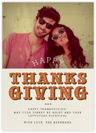 Thanksgiving Photo - Pumpkin - Paperless Post -