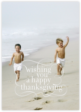 Wishing You - Tall - Paperless Post - Thanksgiving Cards