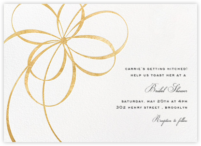Belle Boulevard - Gold - kate spade new york - Kate Spade invitations, save the dates, and cards