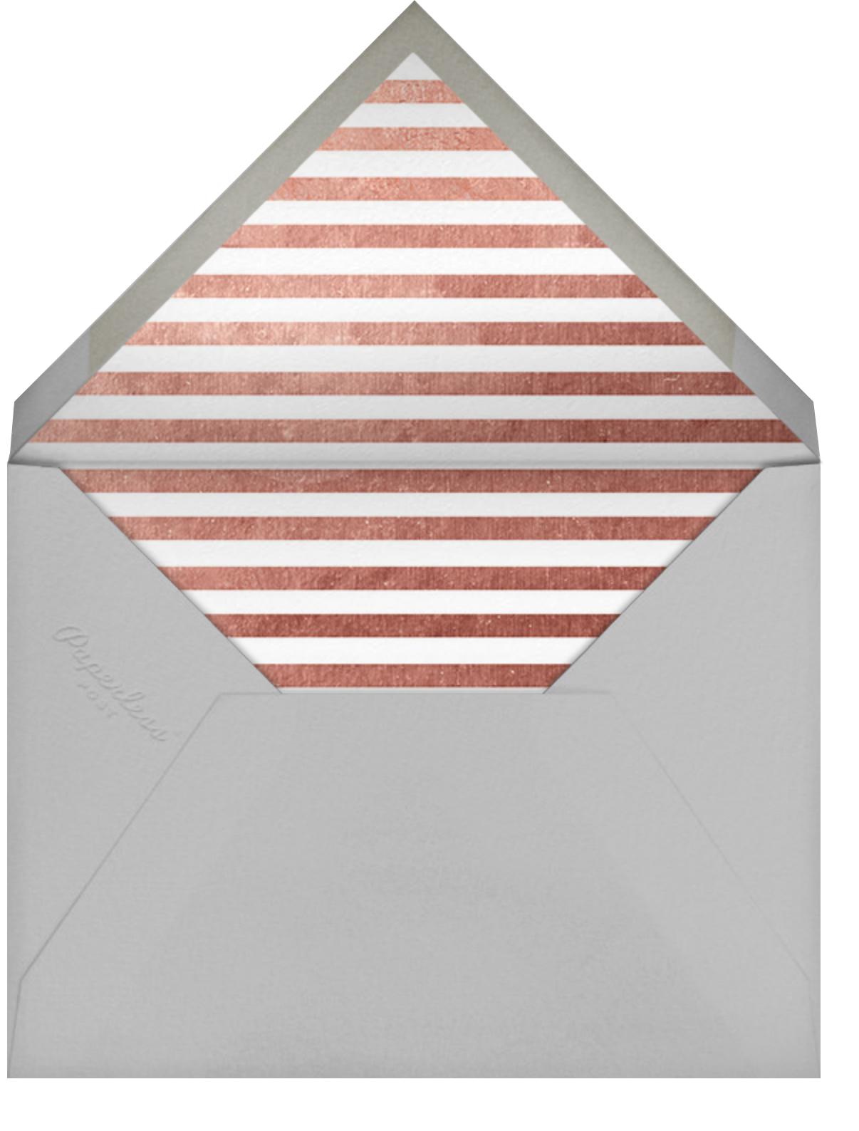 Underscore (Photo) - Rose Gold - Paperless Post - Envelope