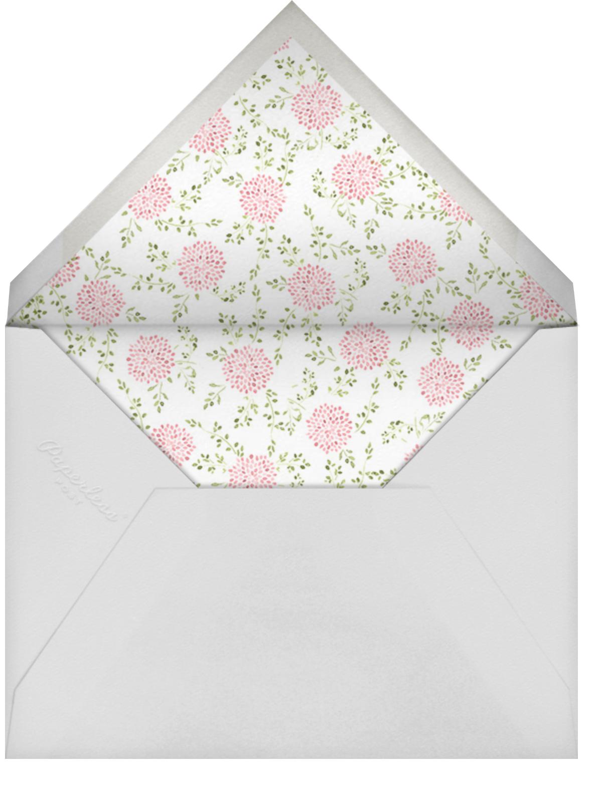Dahlias (Square) - Paperless Post - Bridal shower - envelope back