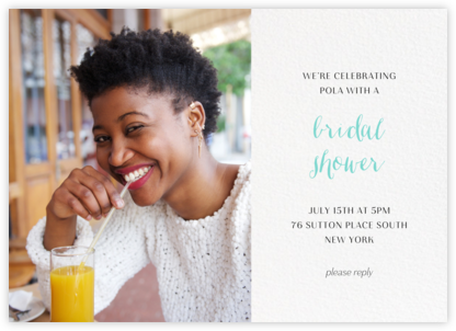 Photo Spread - White - Paperless Post - Bridal shower invitations