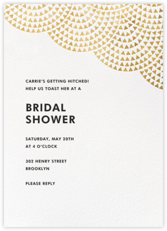 Savoy (Tall) - Gold - Paperless Post - Bridal shower invitations