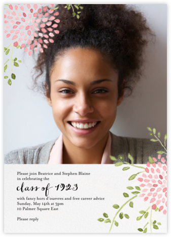 Dahlias (Photo) - Pink - Paperless Post - Celebration invitations