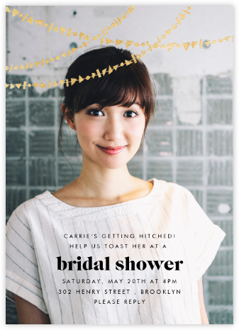 Streamer Shapes (Photo) - Gold - Paperless Post - Bridal shower invitations