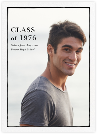 Photo Overprint - Tall - Paperless Post - Graduation announcements