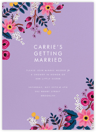 Strewn Blooms - Rifle Paper Co. - Bridal shower invitations