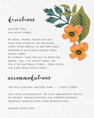 October Herbarium (Invitation) - Rifle Paper Co. - All - insert front