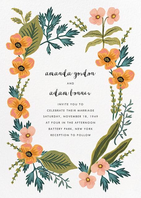 October Herbarium (Invitation) - Rifle Paper Co. - Rifle Paper Co. Wedding