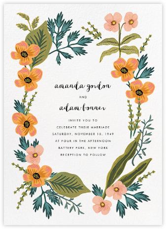 October Herbarium (Invitation) - Rifle Paper Co. - Printable Invitations