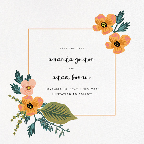 October Herbarium (Save the Date) - Rifle Paper Co. - Rifle Paper Co. Wedding