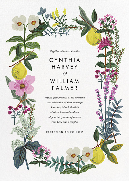 Herb Garden (Invitation) - Rifle Paper Co. - Rifle Paper Co. Wedding