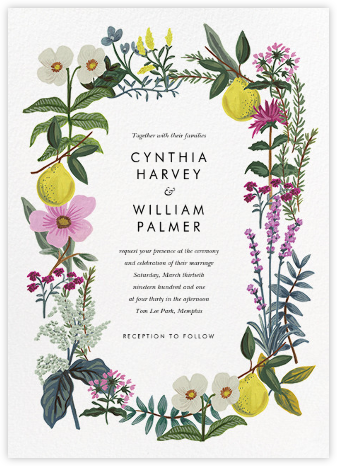Herb Garden (Invitation) - Rifle Paper Co. - Destination wedding invitations