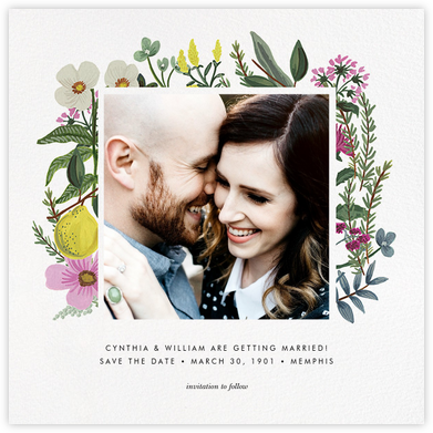 Herb Garden (Photo Save the Date) - Rifle Paper Co. - Rifle Paper Co. Wedding