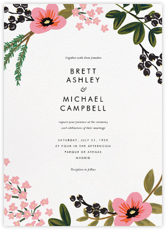 March Herbarium (Invitation) - Rifle Paper Co. - Online Wedding Invitations