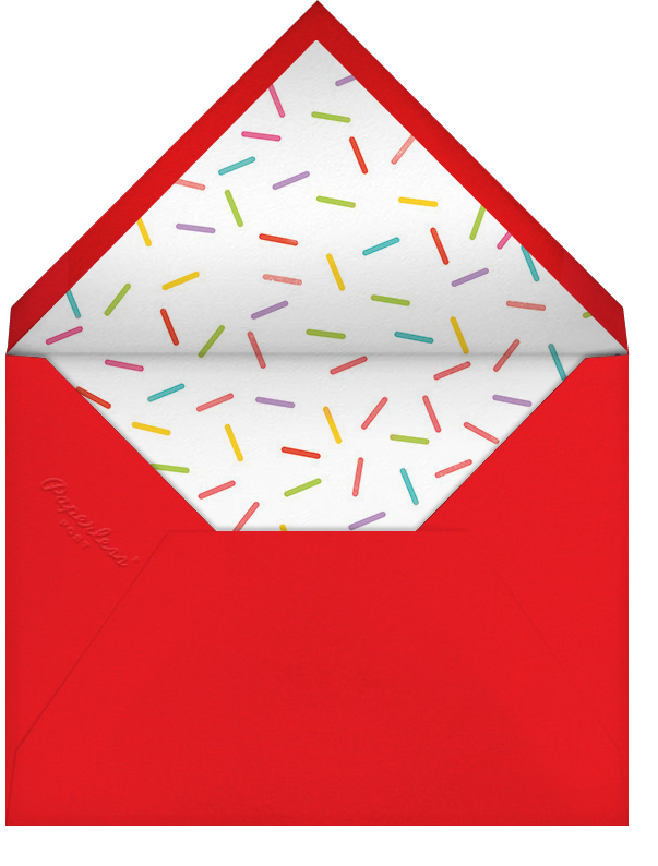 Birthday Balloon - Red - Paperless Post - Kids' birthday - envelope back