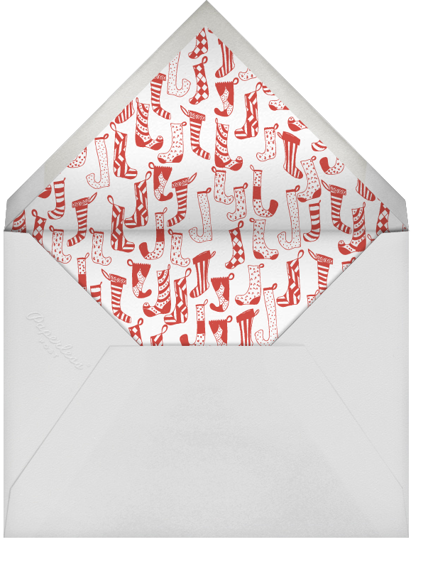Clementine in My Stocking - Red - Mr. Boddington's Studio - Christmas party - envelope back