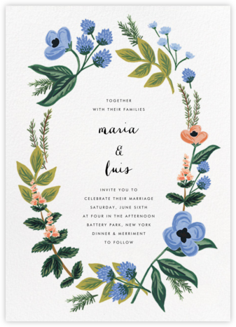 August Herbarium (Invitation) | null