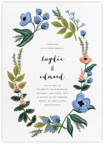 August Herbarium (Invitation) - Rifle Paper Co. - Printable Invitations